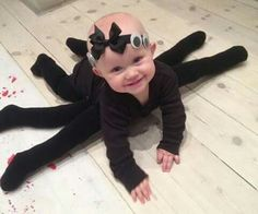 Spider costume for crawling baby
