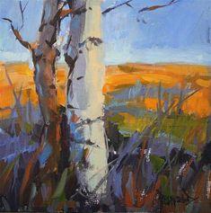"Daily+Paintworks+-+""Birches""+-+Original+Fine+Art+for+Sale+-+©+Cathleen+Rehfeld"