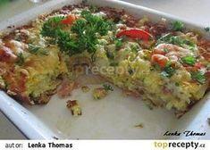 Lenčin zapečený květák No Salt Recipes, Thing 1, What To Cook, Quiche, Cauliflower, Sushi, Good Food, Healthy Recipes, Vegan