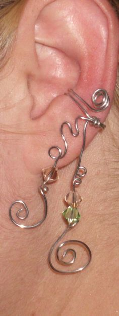 spiral dangle ear cuff