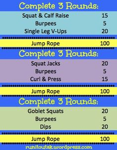 Super quick at-home circuit workout!