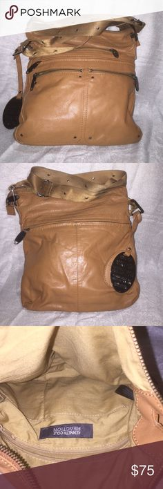 💯Authentic Kenneth Cole Genuine Leather Bag Amazingly gorgeous 100% authentic genuine leather Kenneth cole cross body bag in excellent condition this bag is a rare beauty tan colored leather looks beautiful with boots or nice leather coat! Kenneth Cole Reaction Bags Crossbody Bags