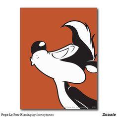 Pepe Le Pew Kissing Postcard