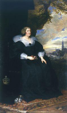 """Anton van DYCK, """"Portrait de Marie de Médicis""""         (Anvers, 1599 – Londres, 1641) ~ 1631"""