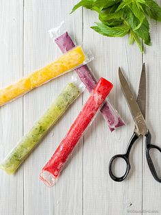 Rainbow Whole-Fruit Ice Pops by 84thand3rd