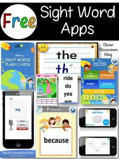 Teaching Sight Words with the Help of Videos, Online Games, Printables, Craft, Books and Pinterest Boards - Clever Classroom Blog