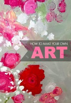 to make your own floral art! So simple! Love this!How to make your own floral art! So simple! Love this! Diy Artwork, Diy Wall Art, Pop Art Bilder, Creation Deco, Arte Floral, Learn To Paint, My New Room, Diy Painting, Art Tutorials