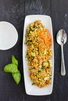 Vegan and Gluten-Free Corn and Vegetable Quinoa Medley