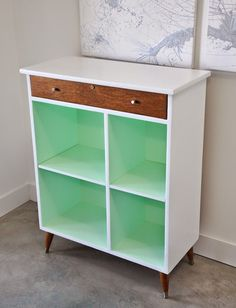 Poppytalk: Before and After   Vintage Cabinet from Shabby to Chic