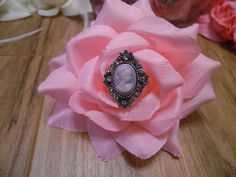 Stunning Pale Pink Fabric Real Touch Rose by gypsycowgirlchic