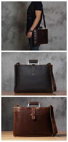 b8c6e4da34ee ROCKCOW Genuine Leather Mens Briefcase Laptop Bags Mens Travel Bag Cowhide Men  Shoulder Bags Business Man Handbag