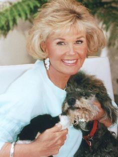 Doris Day, with dogs Lovey & Biggest from the late 70's