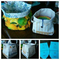 Bobbel Taschen  Schnittmuster Scraptastic basket von Emmalinebags.com