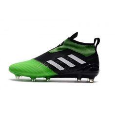 Baratas 2017 Adidas ACE 17 PureControl Negro Verde Blanco Botas De Futbol