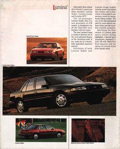 GM 1990 Chevrolet Sales Brochure Chevrolet Lumina, Corvette, Chevy, Magazine, News, Paper, Cutaway, Warehouse