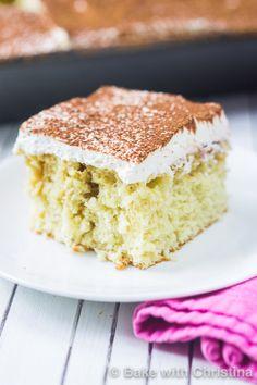Tiramisu Poke Cake - Bake with Christina