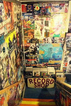 I'd also love to work at a record shop. It would feel extremely comfortable and nice to be surrounded by older times.