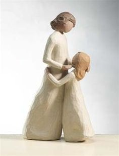 """willow tree """"mother and daughter"""". I need to get this for my daughter. Also need one with a son and mother. Willow Tree Engel, Willow Tree Figuren, Willow Figurines, Principe William Y Kate, Tree People, Trendy Tree, Daughter Love, Mother Daughters, Daughter Quotes"""