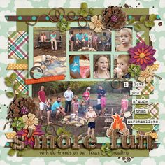 Campfire Friends by Jenn Barrette and Stolen Moments Designs template is Singleton 05 - Summer Ten by Brook Magee dirt splatters from a Trac...