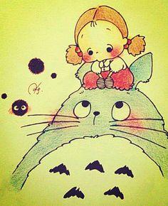 Totoro & Mei (By rebs0513) SO CUTE!!!!!!