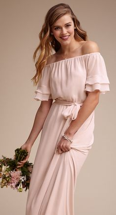 Blush Off-The-Shoulder  Joanna August Dress