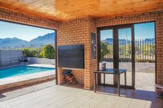 Braai room with views of the mountains. House, Home, Outdoor Rooms, Remodel, Decor Interior Design, Real Estate, House Styles, Property For Sale, Built In Braai
