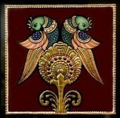 Parrot DIY EasyTanjore painting kit Mysore Painting, Kerala Mural Painting, Tanjore Painting, Zardozi Embroidery, Diy Art Projects, Traditional Paintings, Indian Paintings, Hand Painted Ceramics, Paint Designs