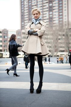 full skirted coat + tights