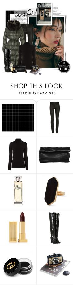"""The First Snow"" by janainajesuino ❤ liked on Polyvore featuring ElleSD, Warehouse, Marie Turnor, Chanel, Jaeger, Lipstick Queen, Laurence Dacade and Gucci"
