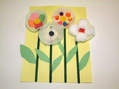 Cupcake Liner Flowers We love this colorful Cupcake Liner Flower craft f