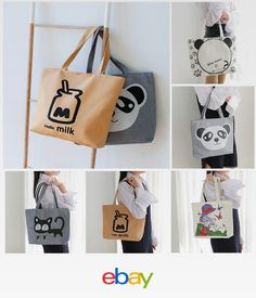 ee36d83d9d90f Handbags Cute Bags Preppy School Bag For Girls Cartoon Canvas Handbag E0104  Canvas Handbags, Tote