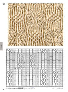 Pretty knit lace cable twist allover stitch pattern with chart. Мобильный LiveInternet 260 Knitting Pattern Book by Hitomi Shida Cable Knitting Patterns, Knitting Stiches, Knitting Books, Knitting Charts, Lace Knitting, Knitting Designs, Crochet Stitches, Crochet Patterns, Knit Lace
