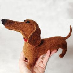 Dachshund needle felting tutorial