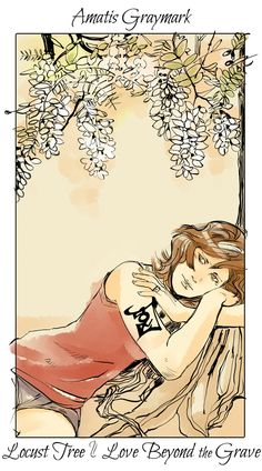 Amatis Graymark - Locust Tree (Love Beyond the Grave): Cassandra Jean: Shadowhunter Flowers Series: *Character belongs to Author Cassandra Clare and her Mortal Instrument series Cassandra Jean, Cassandra Clare Shadowhunters, Cassandra Clare Books, Mortal Instruments Books, Shadowhunters The Mortal Instruments, Clary Et Jace, Clary Fray, Tumblr Art, The Dark Artifices