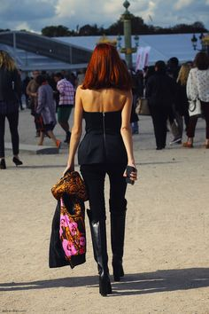 Taylor Tomasi Hill in Valentino at Paris Fashion Week, photographed by Christine of fash-n-chips.com