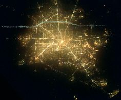 Aerial of Houston at Night