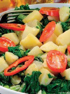 Mangoldsalat mit Kartoffel - Patatesli Pazı Salatası | Türkische Gerichte