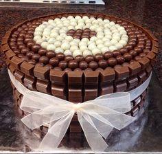 Kinder and Hersheys Chocolate Cake