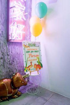 Dinosaur Welcome Sign + Party Entrance from a Roar Dinosaur Birthday Party on Kara's Party Ideas   KarasPartyIdeas.com (17)