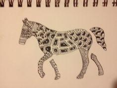 Zentangle Horse!!