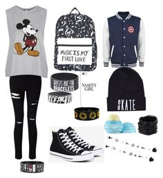 """meee"" by ineedmagcon on Polyvore featuring Miss Selfridge, Converse, Topshop, Casetify, Eos and Saachi"