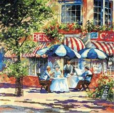 Design Works Counted #crossstitch  Cafe In The Sun #DIY #crafts #decor #needlework #stitching #gift