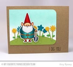You Gnome Me, Spring Garden Die-namics, Stitched Basic Edges Die-namics, You Gnome Me Die-namics - Amy Rysavy  #mftstamps