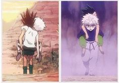 Gon and Killua       ~Hunter X Hunter friends always help each other out