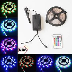 Led Lights   Colour Changing LED Lights Strip (16Ft) With Remote Control