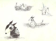 Frankenweenie Concept Art, 1982 by Tim Burton