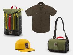 Topo Designs teamed up with Howler Brothers to create a special collection of packs and apparel that combine durable fabrics in classic colors that work as well out on the water as they do back in town.