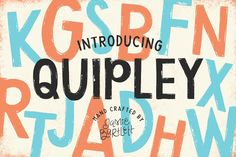 Quipley Font Fonts **Quipley** is an uppercase hand drawn OTF font crafted with just the right amount of texture. This by Jamie Bartlett Design Typography, Typography Fonts, Script Lettering, Handwritten Fonts, Fancy Fonts, Cool Fonts, Business Brochure, Business Card Logo, Texture Web