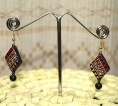 Handmade Terracotta Earrings at CraftsandLooms.com