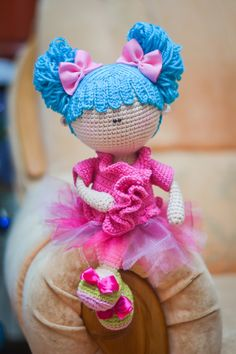 Crochet PATTERN Doll with bunches by magicfilament on Etsy